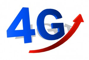 4G symbol with arrow